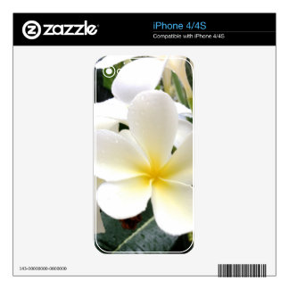 White Floral Skin For The iPhone 4S