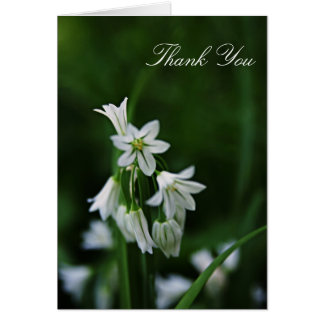 White Floral Thank You Card