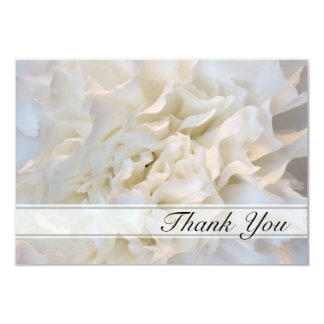 White Floral Thank You for Your Sympathy Personalized Invitation