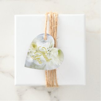 White Floral Thank You Gift Tag