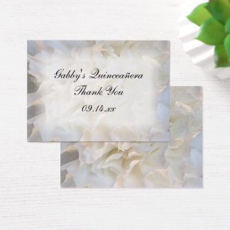 White Floral Thank You Quinceañera Favor Tags