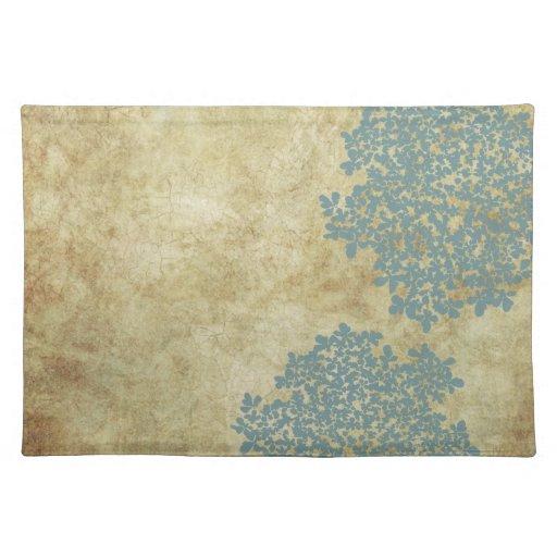 White Floral Vintage Cloth Place Mat