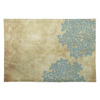 White Floral Vintage Cloth Placemat