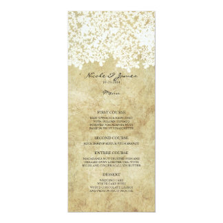 White Floral Vintage 4x9.25 Paper Invitation Card