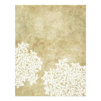 White Floral Vintage Letterhead