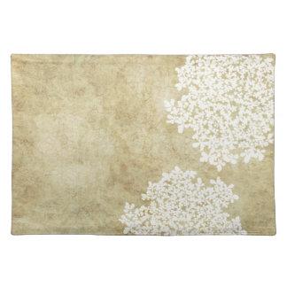 White Floral Vintage Placemat