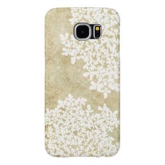 White Floral Vintage Samsung Galaxy S6 Cases