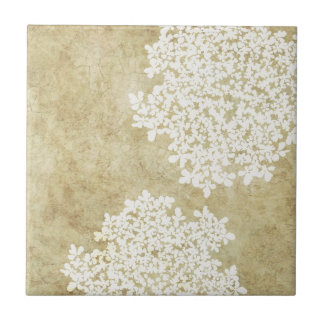 White Floral Vintage Tiles