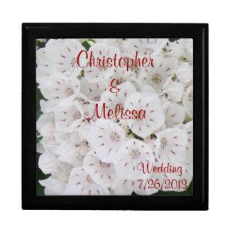 White Floral Wedding Day Keepsake Box CUSTOMIZE IT