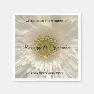White Floral Wedding Napkin