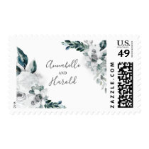 White Floral Wedding Postage