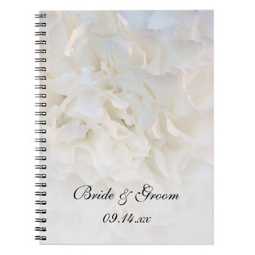 White Floral Wedding Spiral Notebook