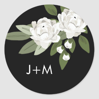 White Floral Wedding Sprigs Sticker