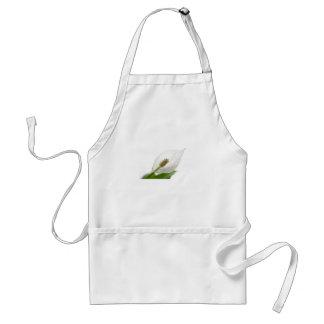 white flower adult apron