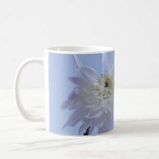 White Flower against Blue Sky Coffee Mug