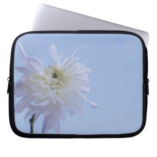 White Flower against Blue Sky Computer Sleeve