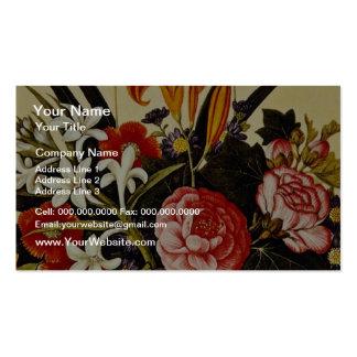 White Flower Arrangement unknown artist flowers Business Card Templates