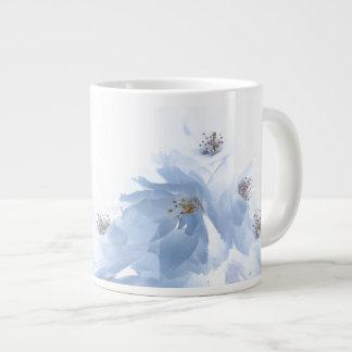 White Flower Blossoms Jumbo Mug