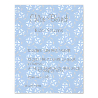 white flower blue back pattern card