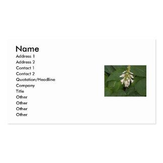 White Flower Business Card