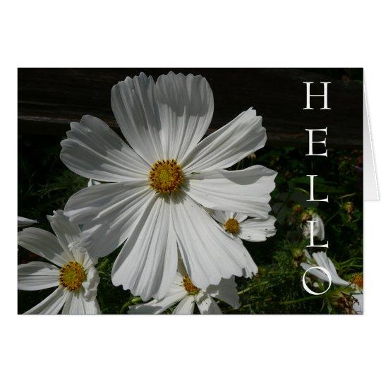 white flower card