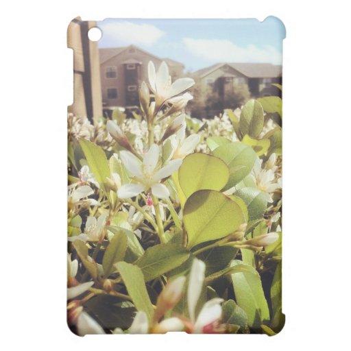 White Flower Case For The iPad Mini