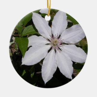 White Flower Ceramic Ornament