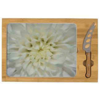 White Flower Cheese Cutting Board