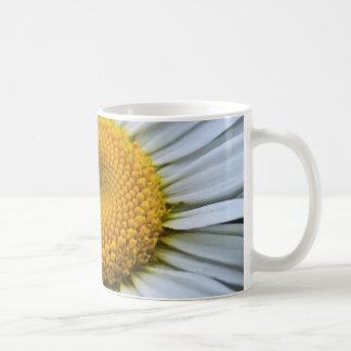 white flower classic white coffee mug