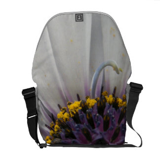 White Flower Close Up Courier Bags