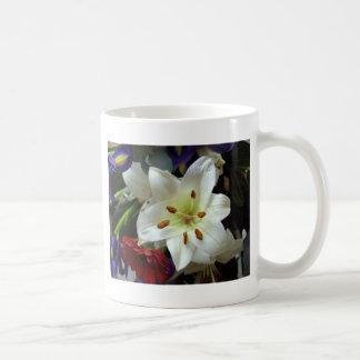 White Flower Closeup Coffee Mug