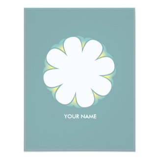 WHITE FLOWER COMPLIMENT CARD POOLBLUE