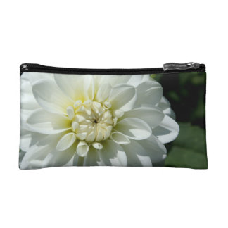 White Flower Cosmetic Bag