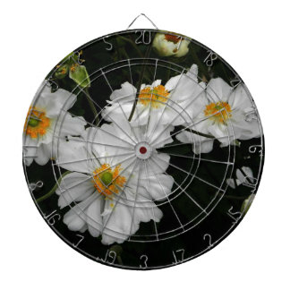 White Flower Dartboard