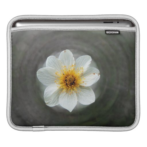White Flower Dream; No Text Sleeve For iPads