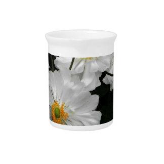 White Flower Drink Pitcher