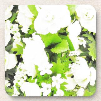 White Flower Floral Nursery Peace Cute Superb nice Beverage Coaster