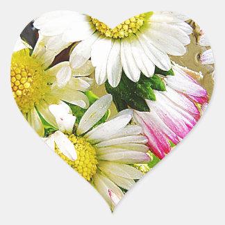 White Flower Floral Nursery Peace Cute Superb nice Heart Sticker