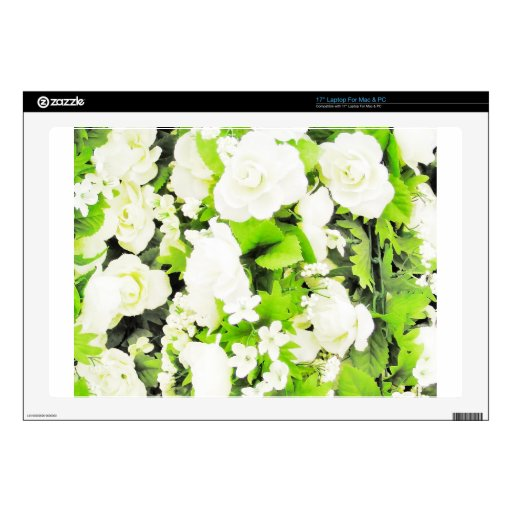 White Flower Floral Nursery Peace Cute Superb nice Decal For Laptop