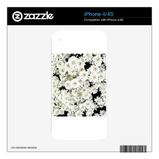 White Flower Floral Nursery Peace Cute Superb nice iPhone 4S Decal