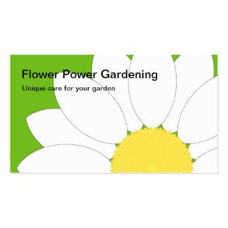 White Flower, Flower Power Gardening, Unique ca... Business Cards
