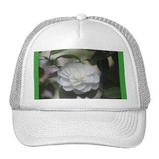 White Flower Trucker Hat