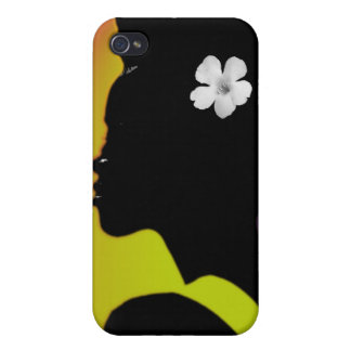 White flower in Color iPhone 4/4S Case