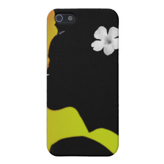 White flower in Color iPhone 5 Case
