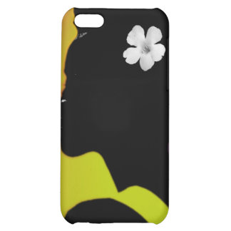 White flower in Color iPhone 5C Cases