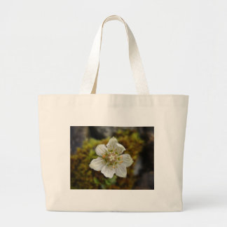 White Flower in the Moss Large Tote Bag