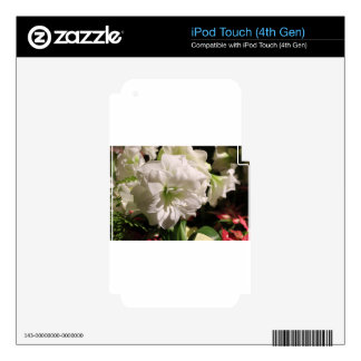 White Flower iPod Touch 4G Decal