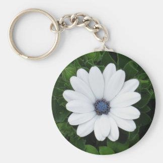 White Flower key chain