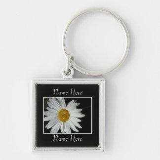 White Flower Keychain