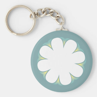 WHITE FLOWER KEYCHAIN POOLBLUE